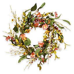National Tree Company 22-Inch Spring Flower Artificial Wreath