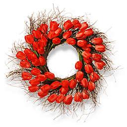 National Tree Company® 24-Inch Artificial Tulip Wreath