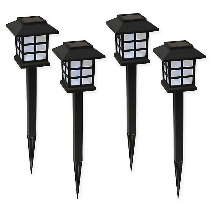 Alternate image 1 for Black Window Solar Powered Ground Stakes (Set of 4)