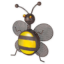 Solar LED Lighted Metal Bumble Bee