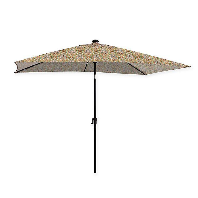 Alternate image 1 for 11-Foot Rectangular Aluminum Solar Patio Umbrella in Sunset