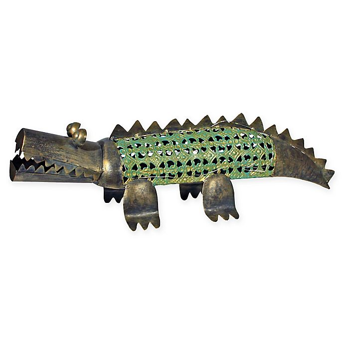 Alternate image 1 for Solar Metal Alligator in Copper
