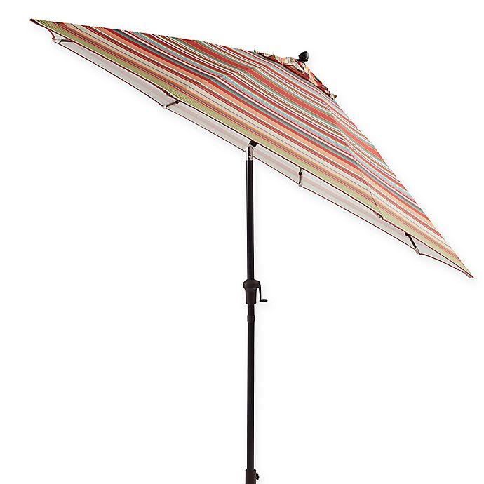 Alternate image 1 for 9-Foot Tilting Outdoor Patio Umbrella in Red