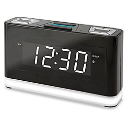 Wireless Voice Activated Alarm Clock with Alexa in Black