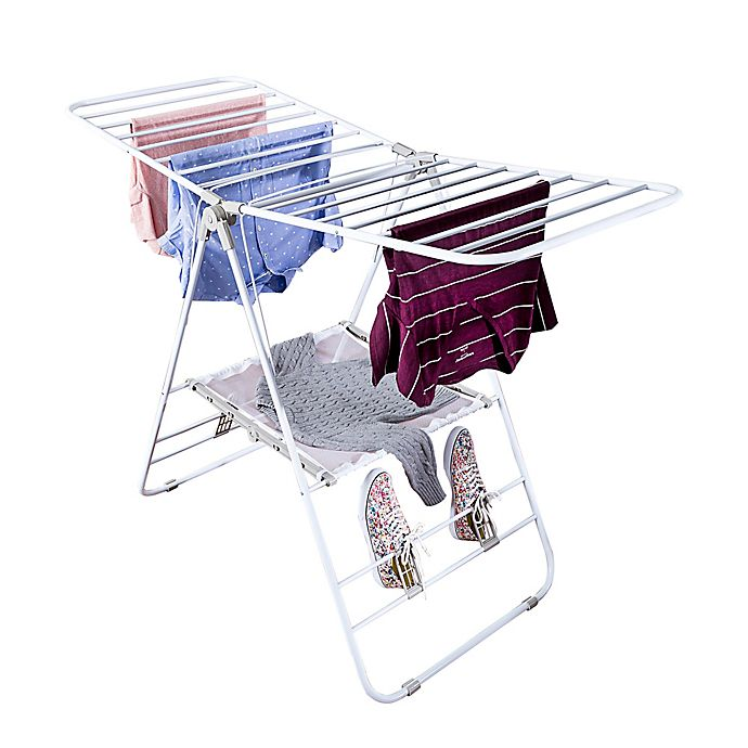 Honey Can Do 174 Gull Wing Clothes Dryer In White Bed Bath