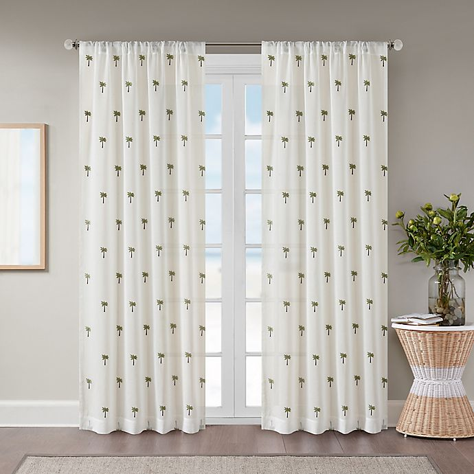 Alternate image 1 for St. Martin Sheer 108-Inch Rod Pocket Window Curtain Panel in White