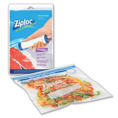 Ziploc 174 13 Count 1 Gallon Vacuum Sealer System Plastic