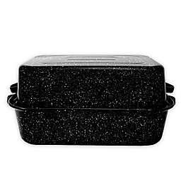 Granite Ware® 21-Inch Rectangular Covered Roaster in Black