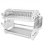 Home Basics 2-Tier Dish Drainer in White