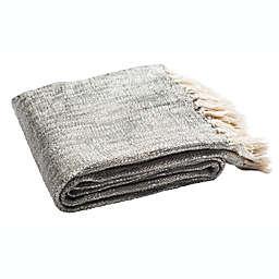 Jacqui Metallic Throw Blanket in Grey/Silver