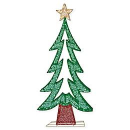Puleo International 72-Inch Lighted Christmas Tree Yard Art