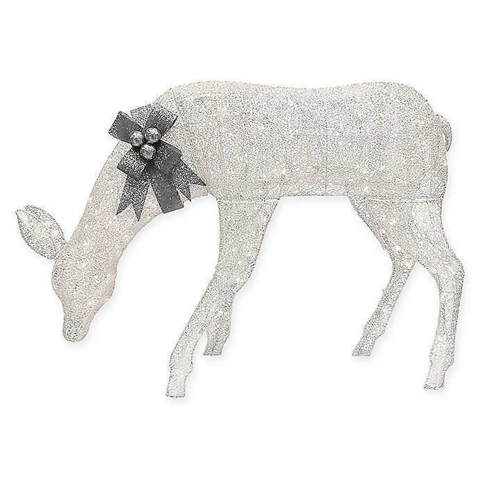 Alternate image 1 for Puleo International 57-Inch Lighted Feeding Doe Decoration