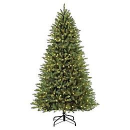 Puleo International Elegant Series 7.5-Foot Fraser Fir Pre-Lit Artificial Christmas Tree