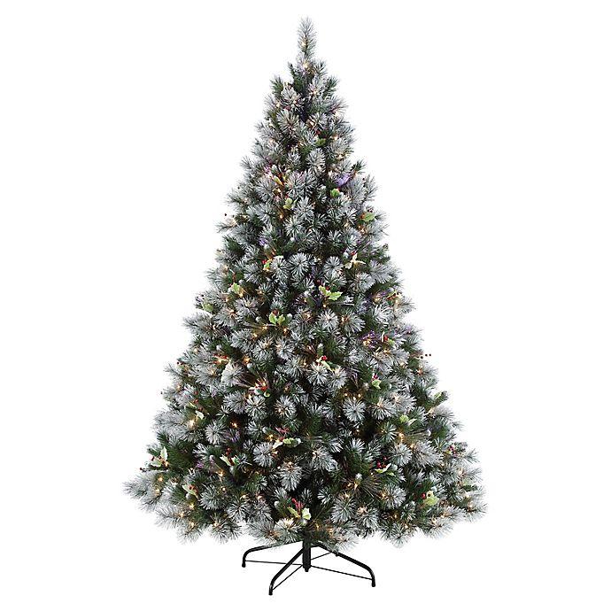 7 5 Fiber Optic Christmas Tree: Puleo International 7.5-Foot Pre-Lit Fiber Optic Winter