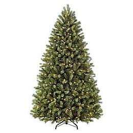 Puleo International 7.5-Foot Oxford Fir Pre-Lit Narrow Artificial Christmas Tree