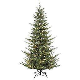 Puleo International 7.5-Foot Natural Fir Pre-Lit Narrow Artificial Christmas Tree