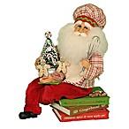 13-Inch Cookbook Santa Figurine