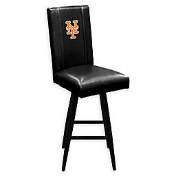 MLB New York Mets Swivel Bar Stool in Black