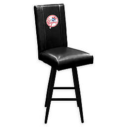 MLB New York Yankees Swivel Bar Stool in Black