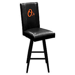 MLB Baltimore Orioles Swivel Bar Stool in Black