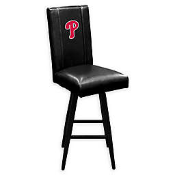 MLB Philadelphia Phillies Swivel Bar Stool in Black