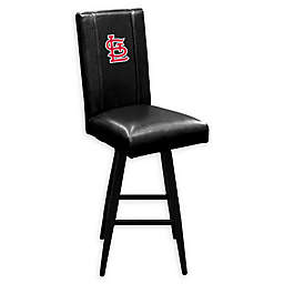 MLB St. Louis Cardinals Swivel Bar Stool in Black