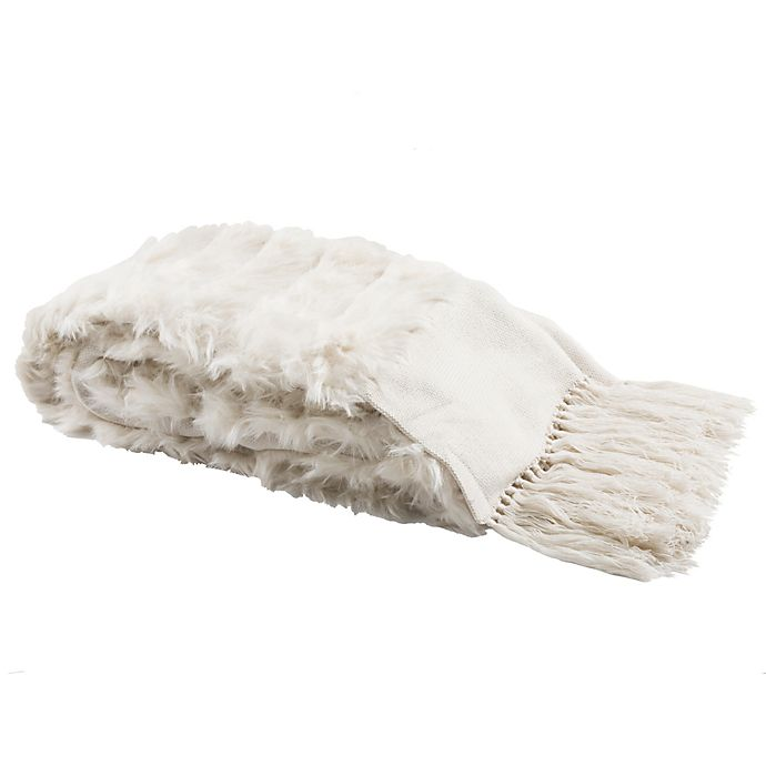 Alternate image 1 for Alexi Faux Fur Bed Runner in White