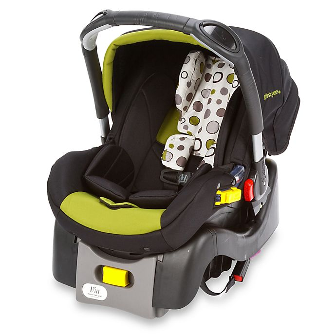 Alternate image 1 for The First Years by Tomy Via I470 Infant Car Seat in Abstract Os Black/Green