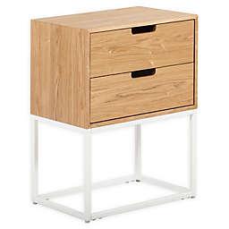 Serta® Camden 2-Drawer Pine Wood Side Table in White