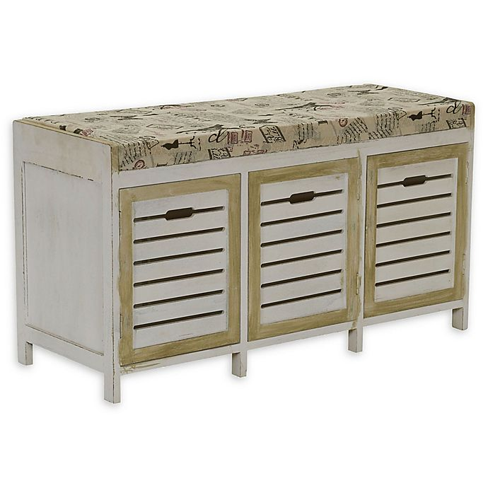 Alternate image 1 for Household Essentials® Entryway Storage Bench