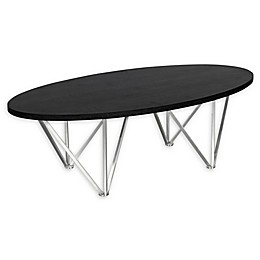 Armen Living Emerald Stainless Steel and Wood Coffee Table