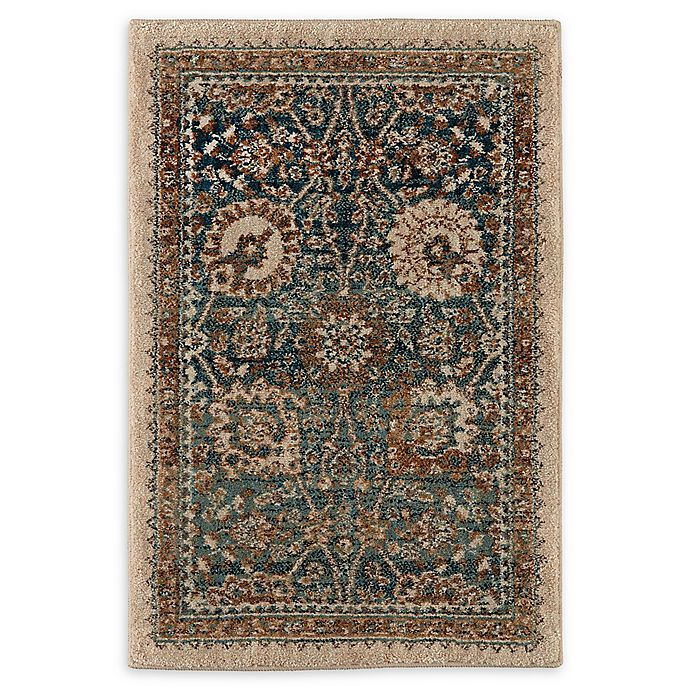 Alternate image 1 for Karastan Taprobana Traditional 2' x 3' Accent Rug in Sapphire/Cream