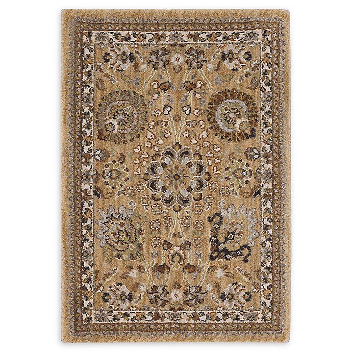 Alternate image 1 for Karastan Aden Floral Rug in Gold