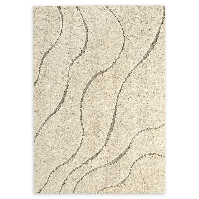 Alternate image 1 for Modway Abound Abstract Swirl 5' x 8' Area Rug in Ivory/Light Grey
