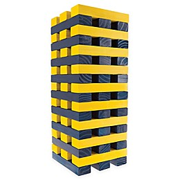 Hey! Play! 54-Piece Wooden Giant Stacking Game in Blue/Yellow