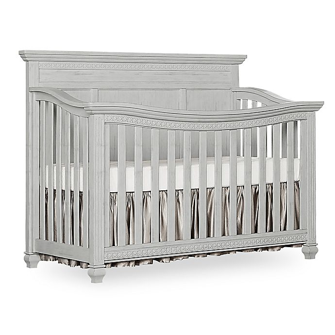 Alternate image 1 for Madison Flat Top 5-in-1 Convertible Crib in Antique Grey