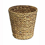 Brookside Natural Water Hyacinth Guest Round Wastebasket