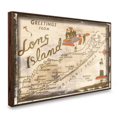 Vintage Greetings From Long Island Wall Plaque Bed Bath