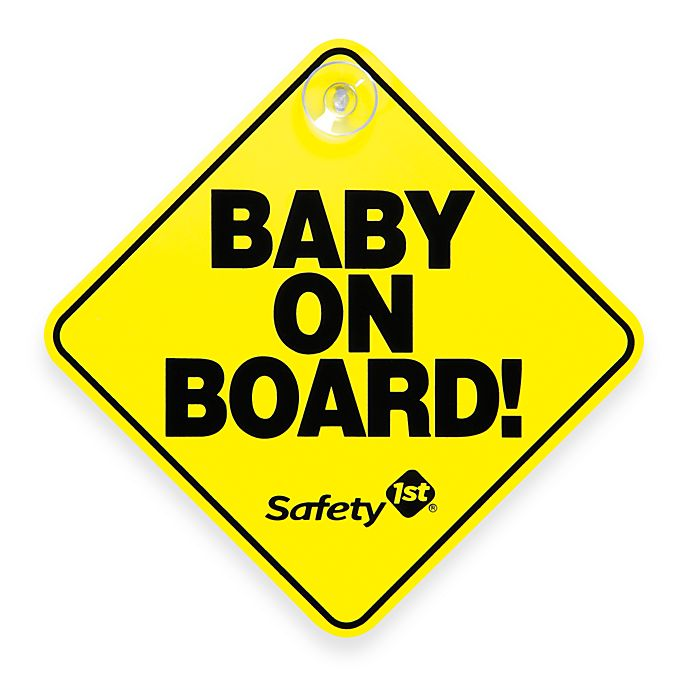 Alternate image 1 for Safety 1st®  Baby On Board Sign in Yellow