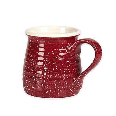 Tabletops Gallery Speckled Mug in Red