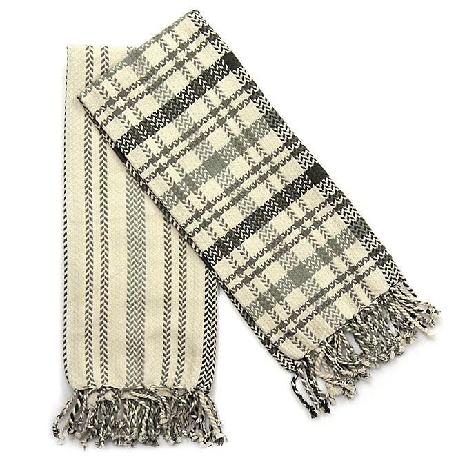 Alternate image 1 for Fringed 2-Pack Kitchen Towel