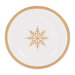 Nevaeh White® by Fitz and Floyd® Grand Rim Gold Snowflake Salad Plate
