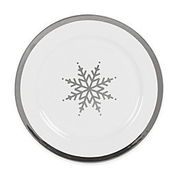 Nevaeh White® by Fitz and Floyd® Grand Rim Platinum Snowflake Salad Plate