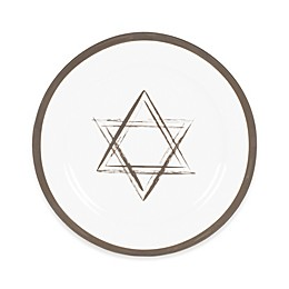 Nevaeh White® by Fitz and Floyd® Grand Rim Platinum Star Salad Plate