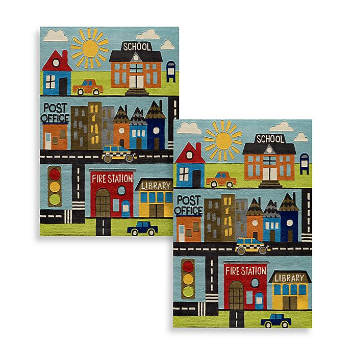 Alternate image 1 for Momeni 'Lil Mo Whimsy LMJ-12 Town Area Rug