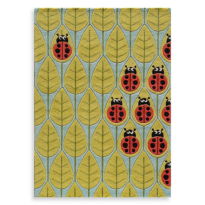 Alternate image 1 for Momeni 'Lil Mo Whimsy LMJ-13 Lady Bug Red Area Rug