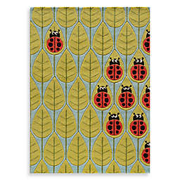 Momeni 'Lil Mo Whimsy 8-Foot x 10-Foot Lady Bug Area Rug