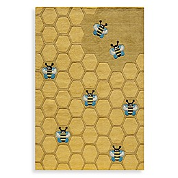 Momeni 'Lil Mo Whimsy LMJ-15 Area Rug in Honeycomb Gold