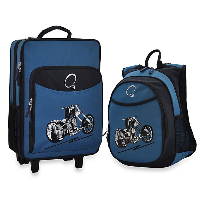 Alternate image 1 for O3 Kids Luggage and Backpack Set with Cooler in Motorcycle