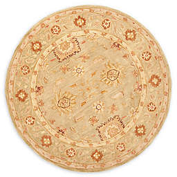 Safavieh Anatolia Dillon 8' Round Handcrafted Area Rug in Sage